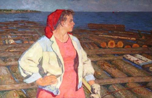 Alexey Belykh (1923). Volzhanka (Volga woman) 1961