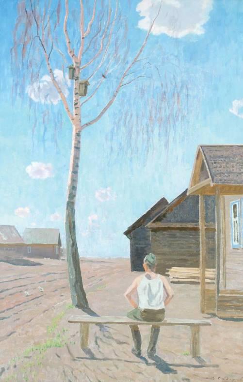 April. Song of starling. 1964