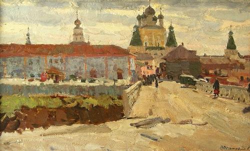 Borisoglebsk. 1964. Soviet artist Vasily Nechitailo (1915 - 1980)