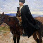 Cossack in cloak. 1975