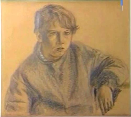 A boy. Pencil Drawing