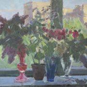 Flowers on the window. 1965