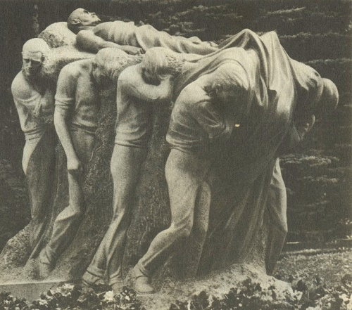 The funeral of the leader. Granite. 1927. House Museum of VI Lenin in Gorki. Work by Soviet Sculptor Sergey Merkurov (7 November 1881 – 8 June 1952)