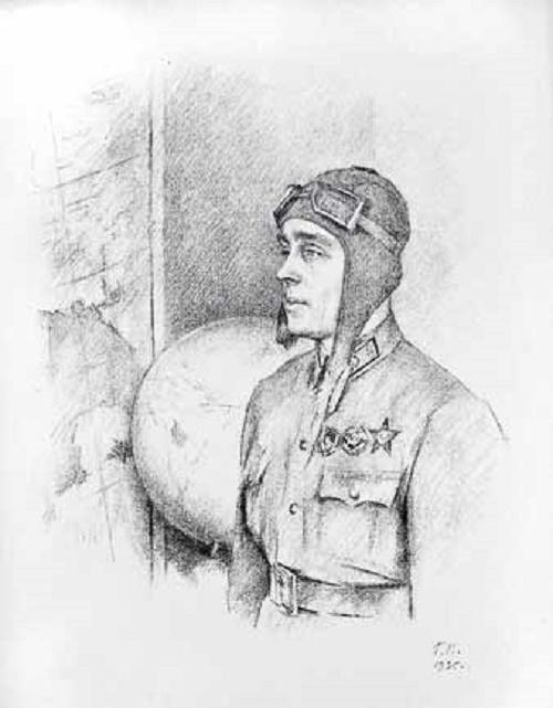 Georgy Vereisky (1886 - 1962). Flag Navigator IT Spirin 1935