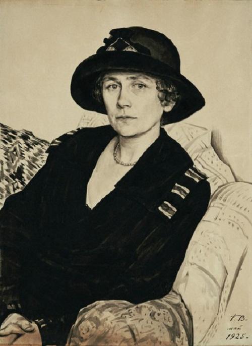 Georgy Vereisky (1886 - 1962). Portrait of Yu.E. Kustodiyeva 1925