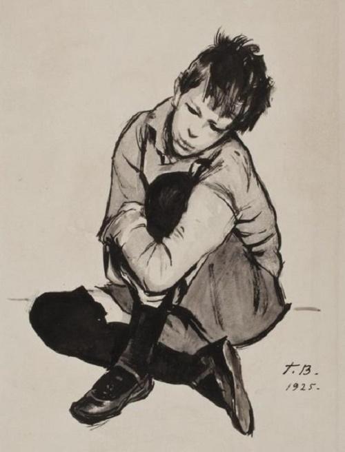 Georgy Vereisky (1886 - 1962). Portrait of a son. 1925