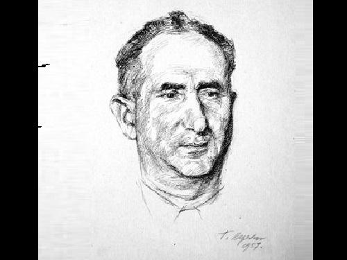 Georgy Vereisky (1886 - 1962). Portrait of the Artist A.L.Kaplan 1957 (lithograph)