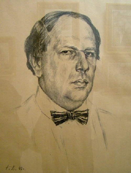 Georgy Vereisky (1886 - 1962). Portrait of the writer A.N. Tolstoy. 1947