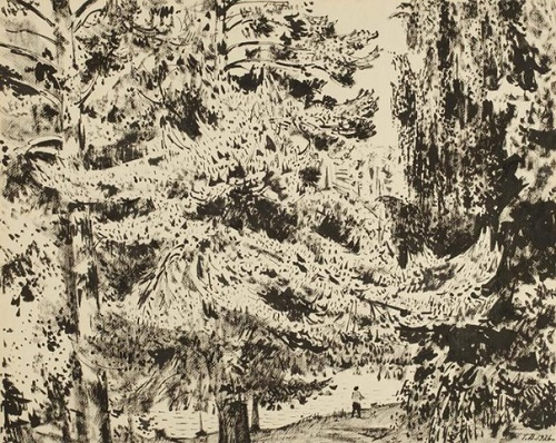 Georgy Vereisky (1886 - 1962). Shalovo. The descent to the lake in the woods