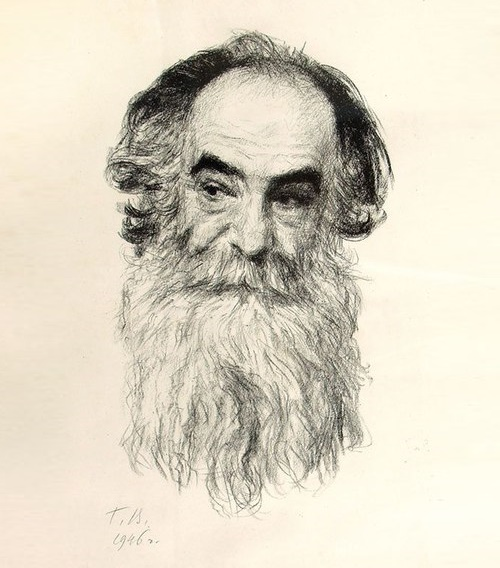 Georgy Vereisky. Portrait A.I.Orbeli (Director of the Hermitage). 1946 (lithograph)