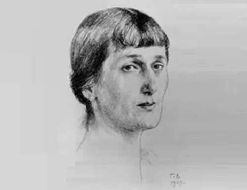Georgy Vereisky. Portrait of Anna Akhmatova 1929