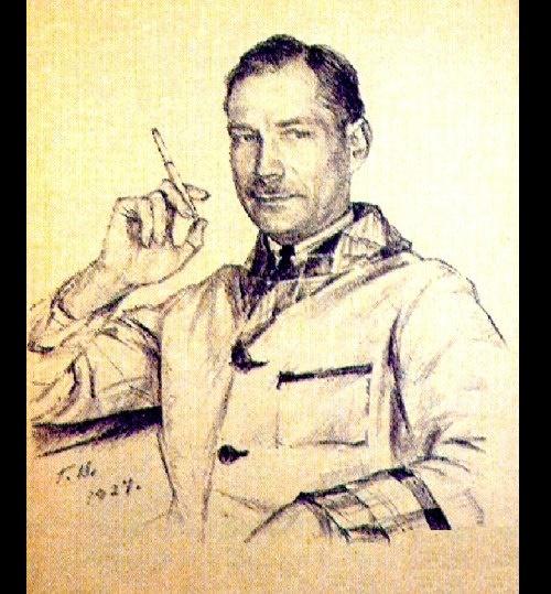 Georgy Vereisky. Portrait of Evgeny Zamyatin, 1927