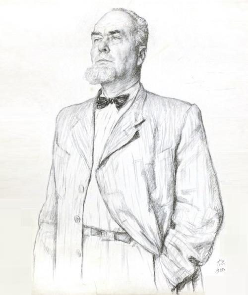 Georgy Vereisky. Portrait of Konstantin Yuon, 1950