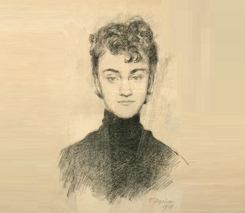Georgy Vereisky. Portrait of Marina Chugunova. 1957