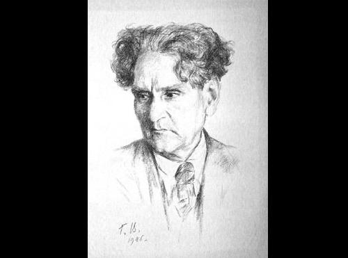 Georgy Vereisky. Portrait of Martiros Saryan, 1946 (lithograph)