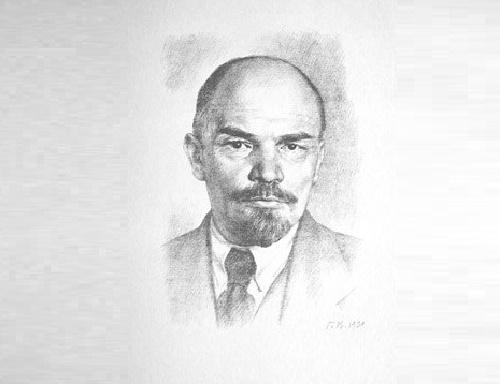 Georgy Vereisky. Portrait of VI Lenin, 1939 (lithograph)