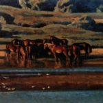 Horses on the Oka. 1996