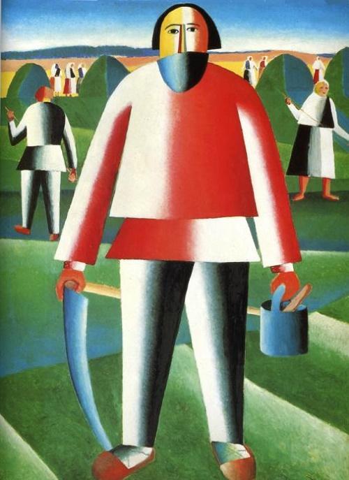Kazimir Malevich. 'Reaper'. 1930. The State Tretyakov Gallery