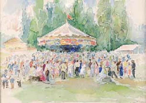Konstantin Morozov  (1894–1990). Festival at Skhodnya. 1926. Oil on cardboard