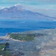 Landscape. Sorrento. 1932. Oil on cardboard. Pavel Korin (1892-1967)