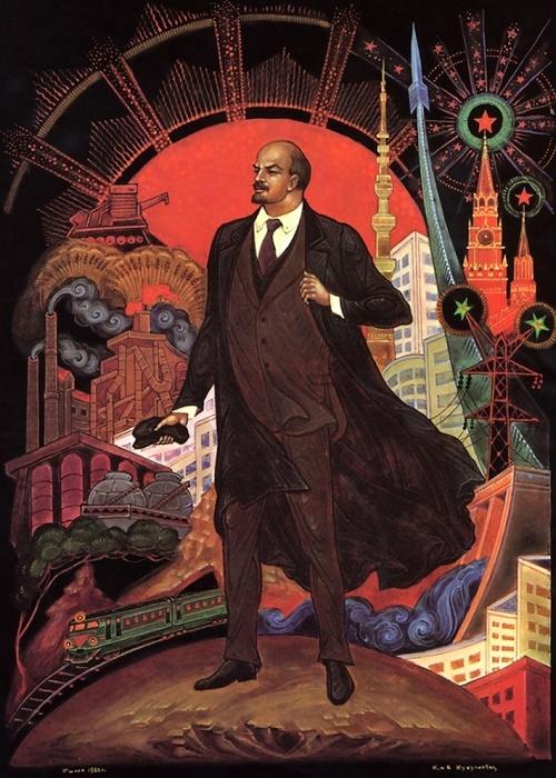 Lenin in Soviet Palekh, 1956