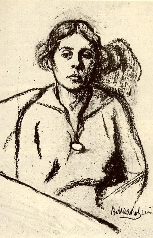 Lilya Brik. Drawing by V. Mayakovsky, 1916
