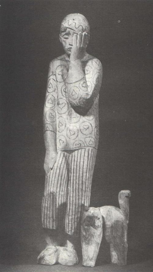 Sad clown. 1970. Soviet Sculptor Mikhail Smirnov (January 26, 1926 - January 10, 2011)