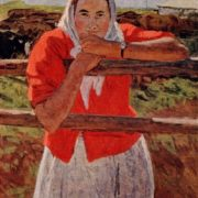 Milkmaid Nina Chub (kolkhoz 'Path of Lenin', Korenetsky district). From the series 'Foremost of agriculture of Kuban'. 1961