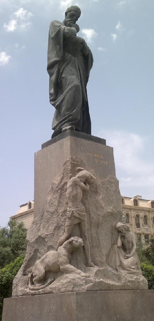 Monument to Fizuli in Baku, 1962 (in collaboration with Tokay Mamedov). Soviet sculptor Omar Eldarov