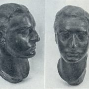 Head of the statue of N. L. Tarasov. 1912. Bronze. Moscow, the Moscow Art Theater Museum