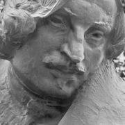 Nikolay Gogol. Detail of monument