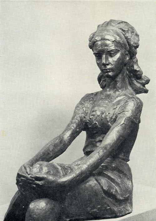 Soviet sculptor Omar Eldarov (born December 21, 1927). Portrait of a student. 1970, gypsum