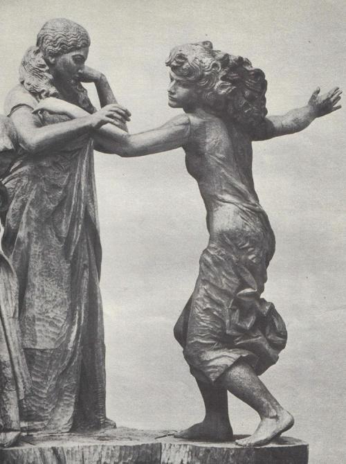 Omar Eldarov. 'Four Ages'. Fragment. Wood. 1973