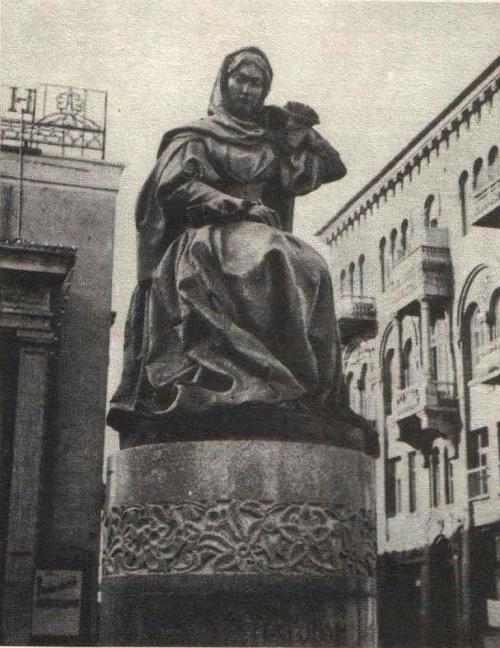 Omar Eldarov. Monument to Natavan. Bronze, granite. Baku. 1960