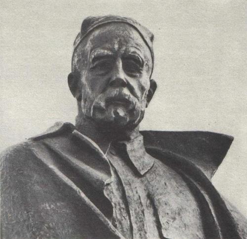 Omar Eldarov. The memorial ensemble devoted to Sadriddin Aini. Fragment. Bronze, granite. Dushanbe. 1978