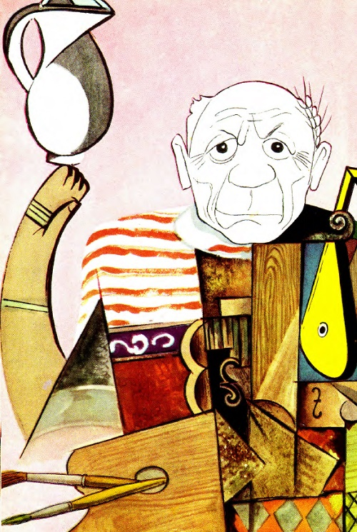 Picasso by Masters of Soviet caricature Kukryniksy
