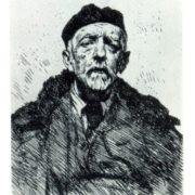 Portrait of SM. Zarudny. Etching. 1940