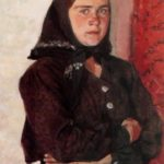 Portrait of Tatiana Igonina. 1959. The Nizhny Novgorod State Art Museum