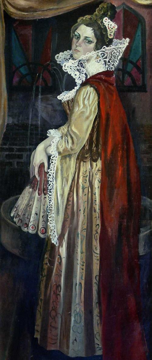 Portrait of actress Pyatnitskaya, 1986