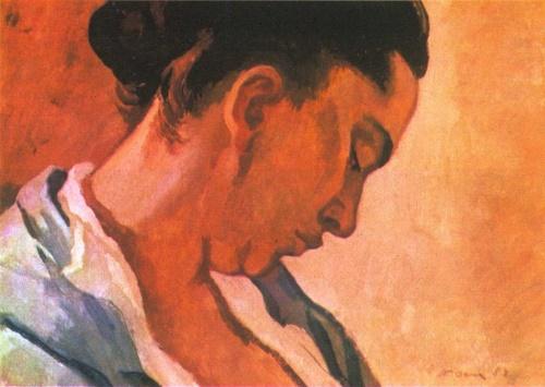 Pyotr Ossovsky. Motherhood. Oil. 1958