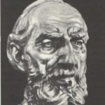 Portrait of MK Kholmogorov. Wrought copper. 1935