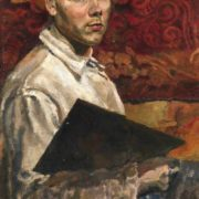 Self-portrait with a palette. 1948