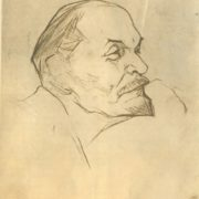 Sketch from nature. 1920. Portrait of Lenin