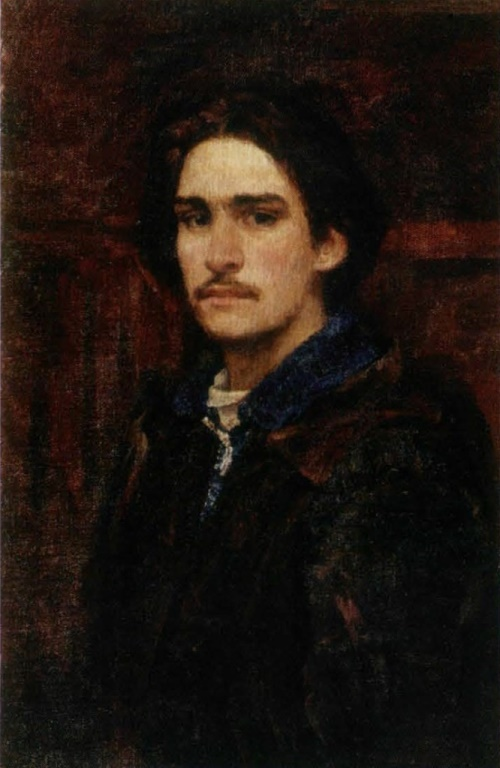 Soviet artist Viktor Ivanov. Self-portrait. 1943