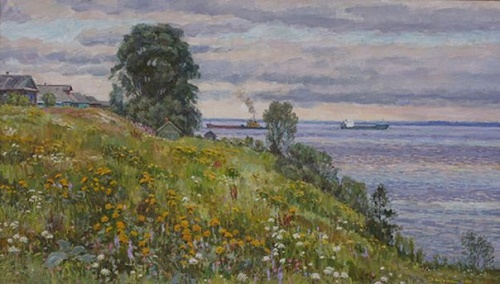 Summer blooming over the Volga