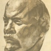 The first sketch from nature. Lenin. 1920