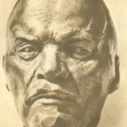 The second sketch from nature. Lenin. 1920