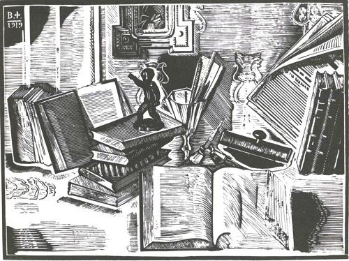 V. Favorsky. Still life. Wood engraving. 1919