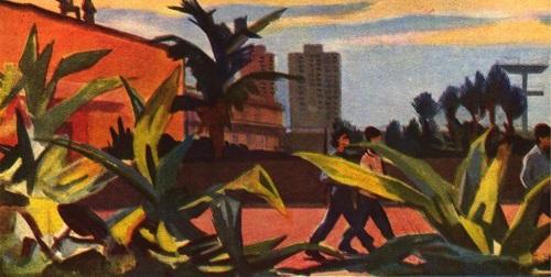 Soviet artist Viktor Ivanov. Havana in the anxious days