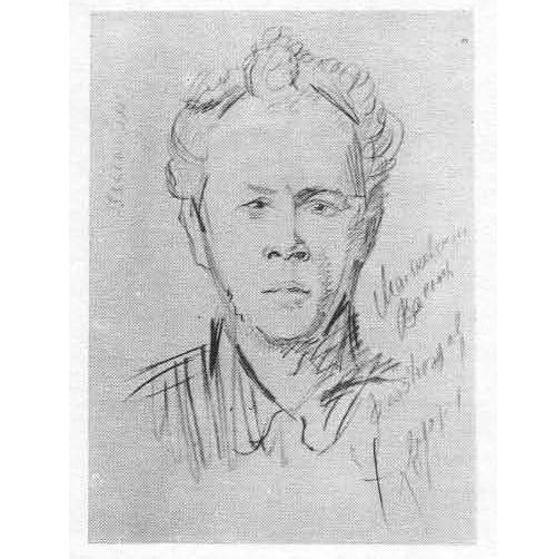 Vasily Kamensky. Pencil. 1918. Artist Vladimir Mayakovsky
